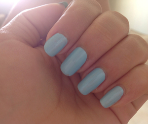beautiful, blue, and nails image