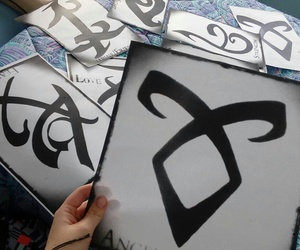 runes, shadowhunters, and angelic rune image