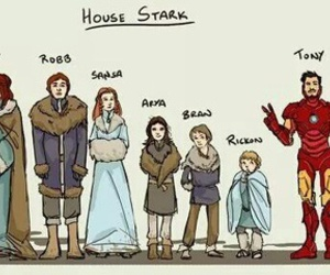 game of thrones, stark, and iron man image