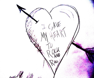 heart, text, and rock n roll image