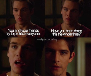 awww, crying, and teen wolf image