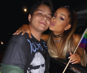 ariana grande and fan image