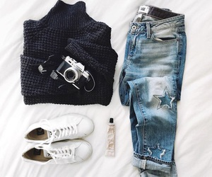 outfit, shoes, and sneakers image