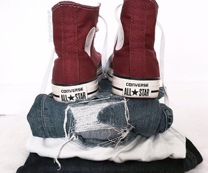 clothes, converse, and denim image