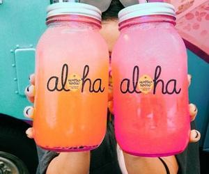 Aloha, beach, and drink image