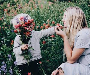 family, flowers, and baby image