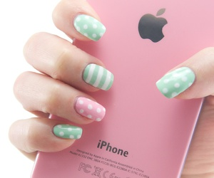 mint, nail, and nail art image