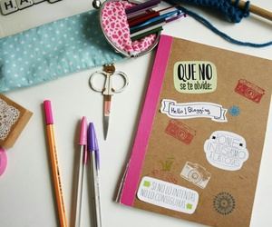 diy, light blue, and notebook image