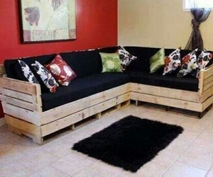 couches, pallet couch, and recycled couches image