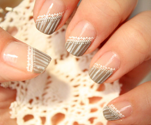 brown, funky, and manicure image