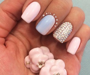 nail, nail art, and pink image