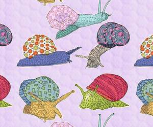 background, pattern, and snail image