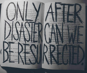 book, disaster, and text image