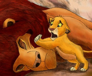 lion king and 😢 image