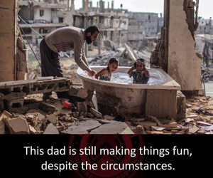 children, dad, and syria image