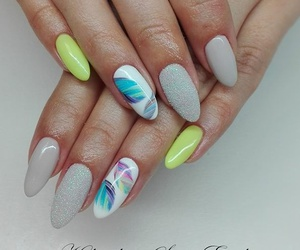 colourful, nails, and summer image