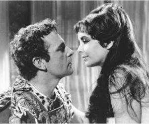 Elizabeth Taylor, cleopatra, and richard burton image