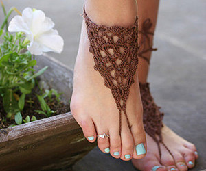 accessories, bohemian clothing, and hippie sandals image