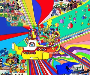 movie, the beatles, and yellow submarine image
