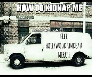 bands, funny, and hollywood undead image