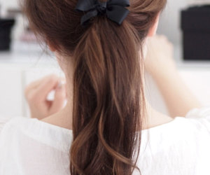 bow, hair, and ponytail image
