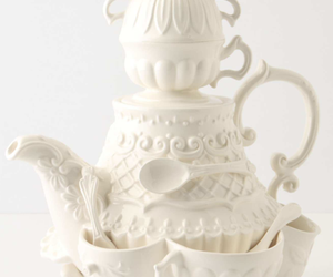 cake, pastel, and tea image