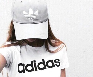 adidas, black and white, and couple image