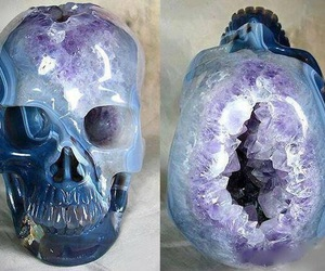 skull, crystal, and amethyst image