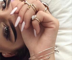 eyebrows, on fleek, and girl image