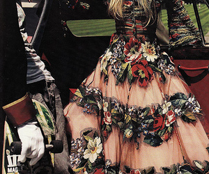 Couture, embroidered, and floral image