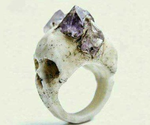 ring, skull, and crystal image