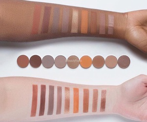 eye shadow, swatches, and tan skin tone image