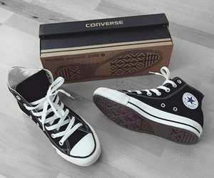 converse, sneakers, and black image