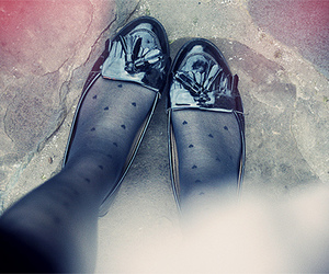 loafers, tights, and shoes image