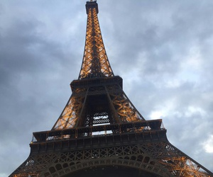 amour, clouds, and eiffel tower image