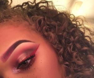 makeup, hair, and pink image