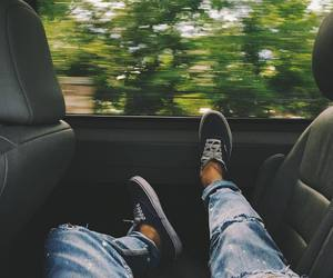 cars, feet, and travel image