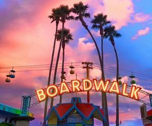 amusement park, beach, and boardwalk image