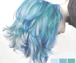 blue, hair, and grunge image