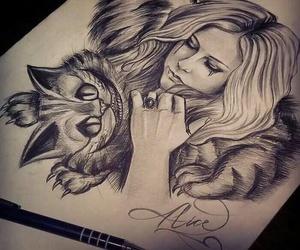 Avril Lavigne, alice, and cat image