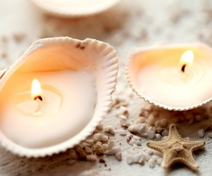 candle, shell, and light image