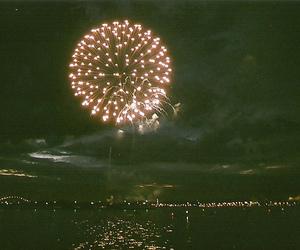 fireworks, vintage, and light image