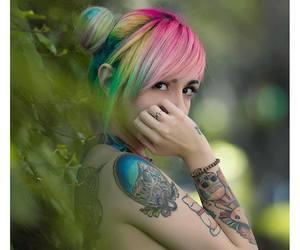 tattoo, miranda ibañez, and eyes image