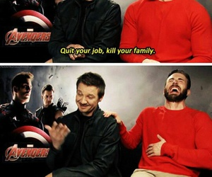 Avengers, chris evans, and funny image