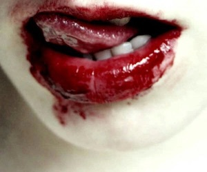 blood, bloody, and lips image