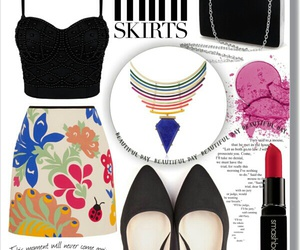 mini skirts, outfits, and Polyvore image