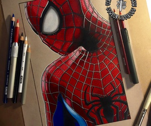 art and spiderman image