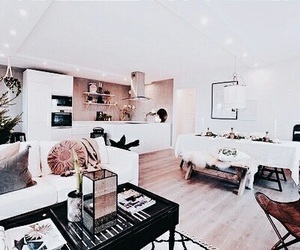 white, interior, and pink image