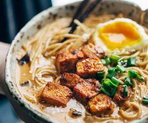 ramen, egg, and food image