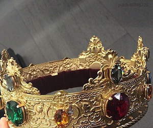 crowns, ruby, and emerald image
